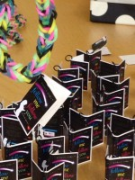 The loom bands giveaways.