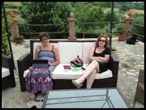 Arte Umbria 2013, with Celia & Sue